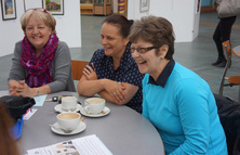 People at dementia cafe in Glasgow