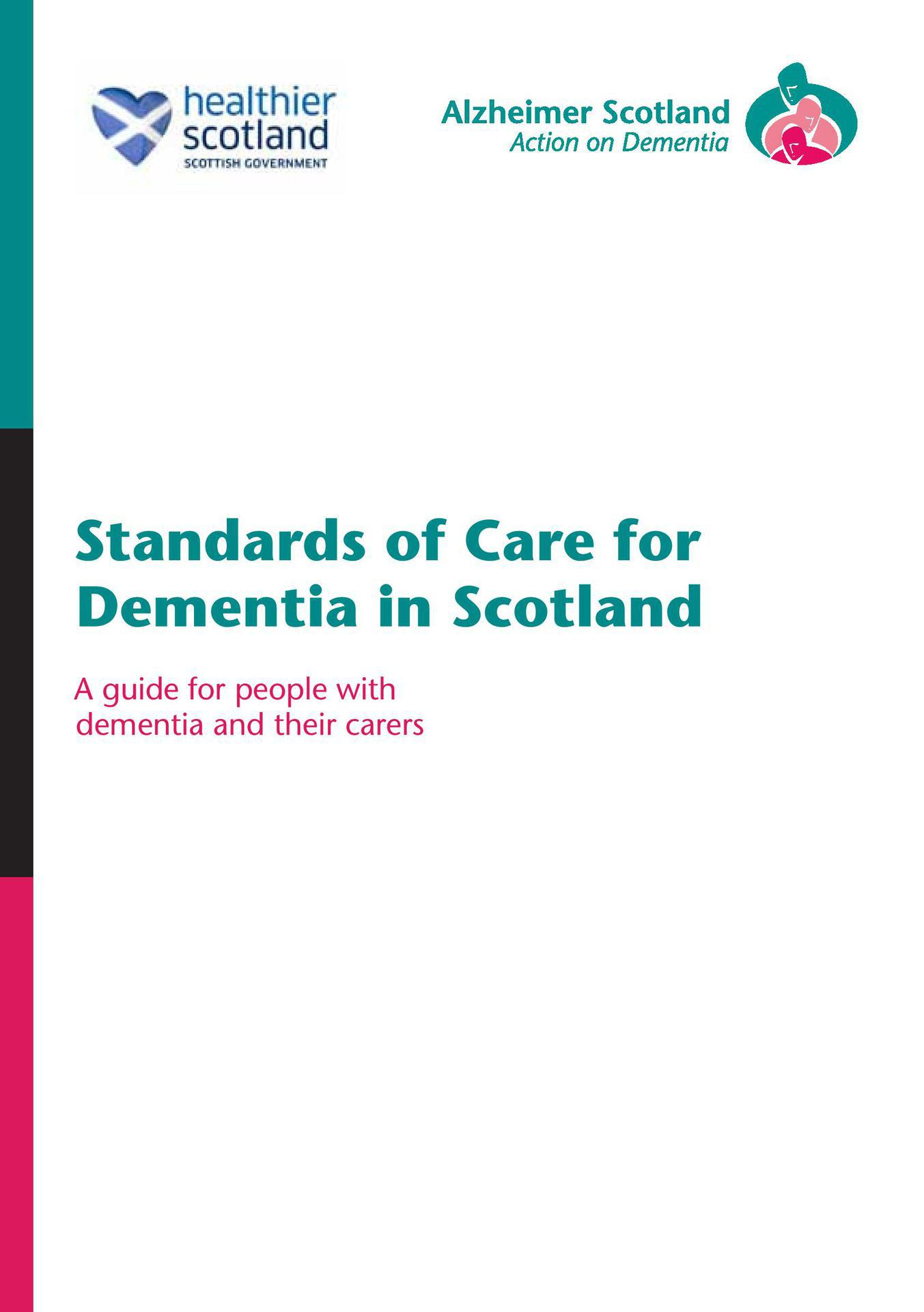 Guide to Standards of Care for Dementia in Scotland.1 page 001