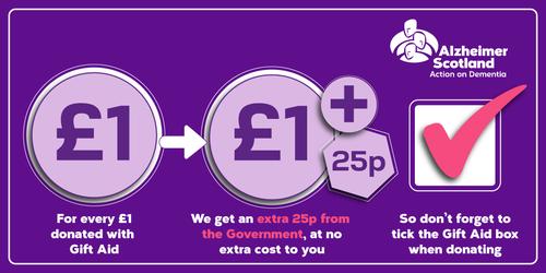 Gift Aid - Make a Donation - Alzheimer Scotland