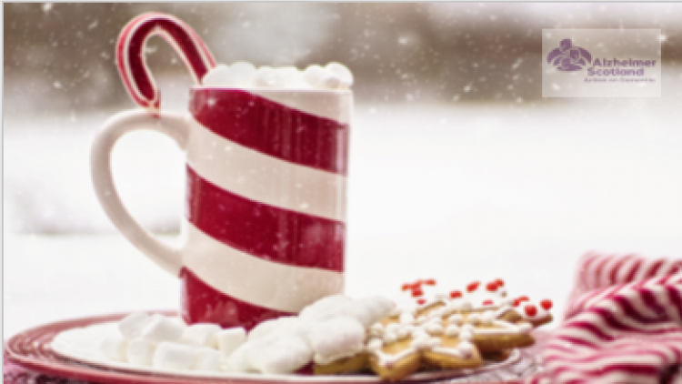 Image of a festive cup of hot chocolate