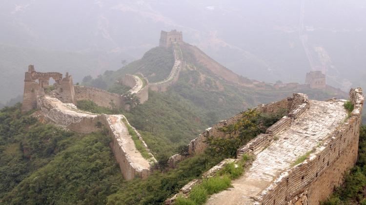 The Great Wall of China stretches into the distance