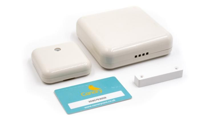 A series of small white cubes which can be strategically placed around your home to monitor heat, light and movement