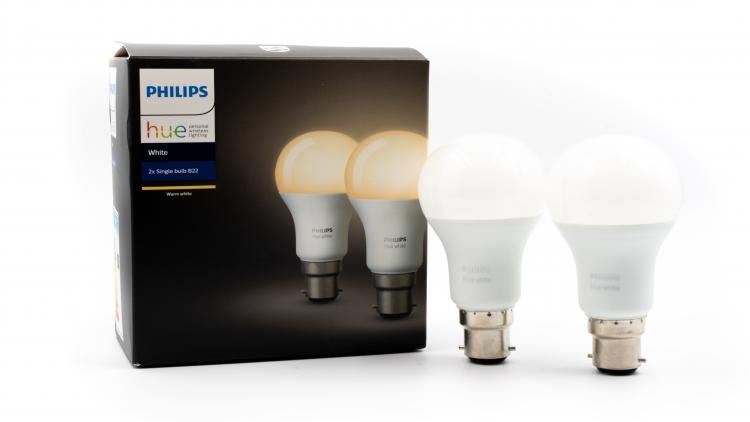 Normal household bulbs which connect via your WiFi internet so you can control them using your voice (via Amazon Echo devices) or manually via motion sensors, controllers and smart device apps