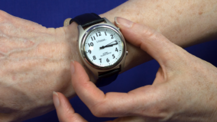A talking watch to help you keep track of time