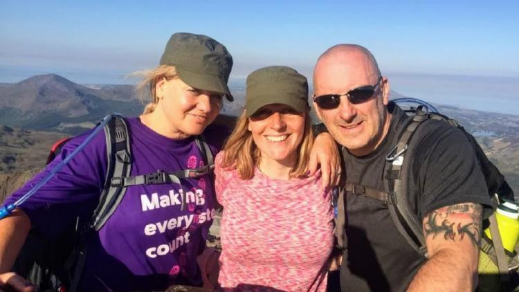 Three climbers on the three peaks challenge
